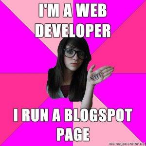 I'm a web developer