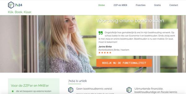 webdesign by ABCwebsites - 7x24 Online boekhouden