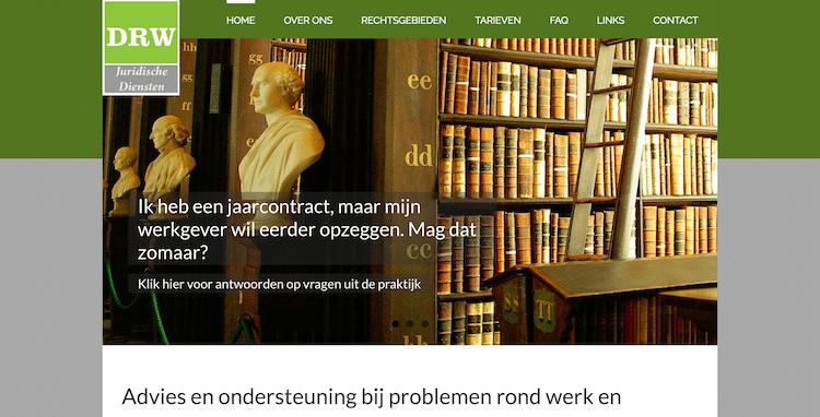 DRW Juridische Diensten - webdesign by ABCwebsites