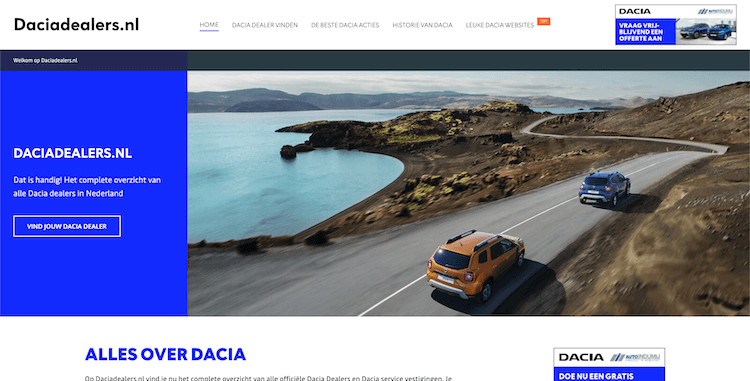 Daciadealers design by ABCwebsites