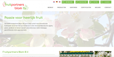 Fruitpartners Blom - webdesign by ABCwebsites
