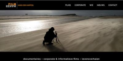 Filmmaker Hans den Hartog webdesign by ABCwebsites