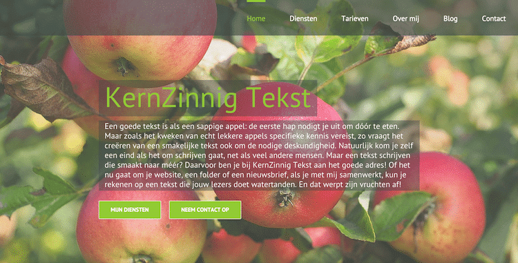 Kernzinnig Tekst - webdesign by ABCwebsites