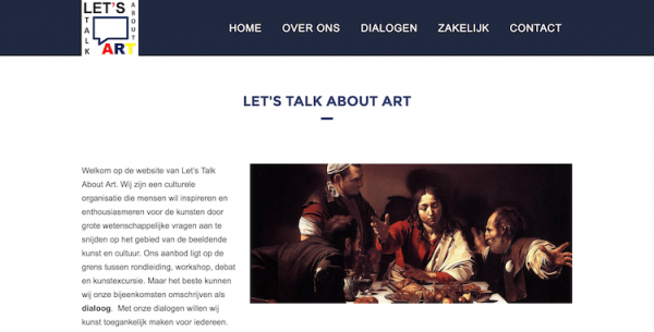 Let's Talk About Art - webdesign by ABCwebsites