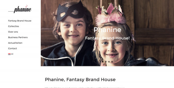 Phanine - webdesign by ABCwebsites