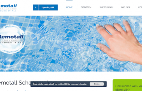 Remotall Schoonmakers - webdesign by ABCwebsites