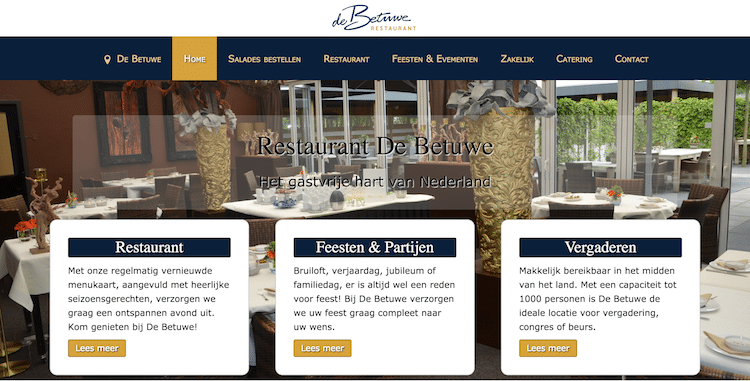 Restaurant De Betuwe - webdesign by ABCwebsites