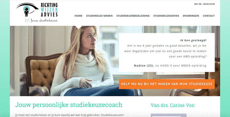 webdesign by ABCwebsites Richting-Wijzer Advies