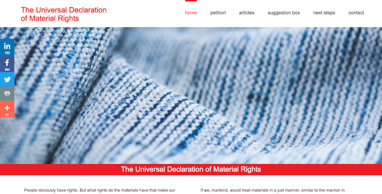 The Universal Declaration of Material Rights - webdesign by ABCwebsites