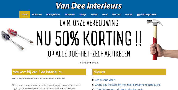 Van Dee - webdesign by ABCwebsites