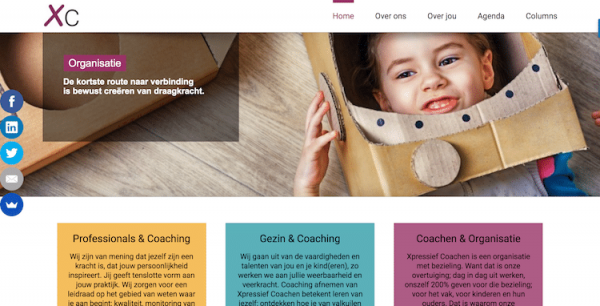 Xpressief Coachen - webdesign by ABCwebsites