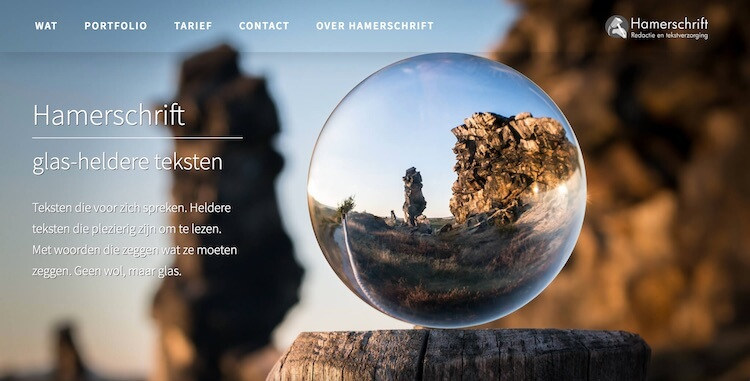 Hamerschrift webdesign by ABCwebsites