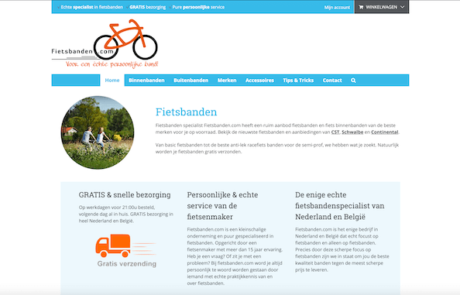 Webdesign by ABCwebsites - Fietsbanden.com